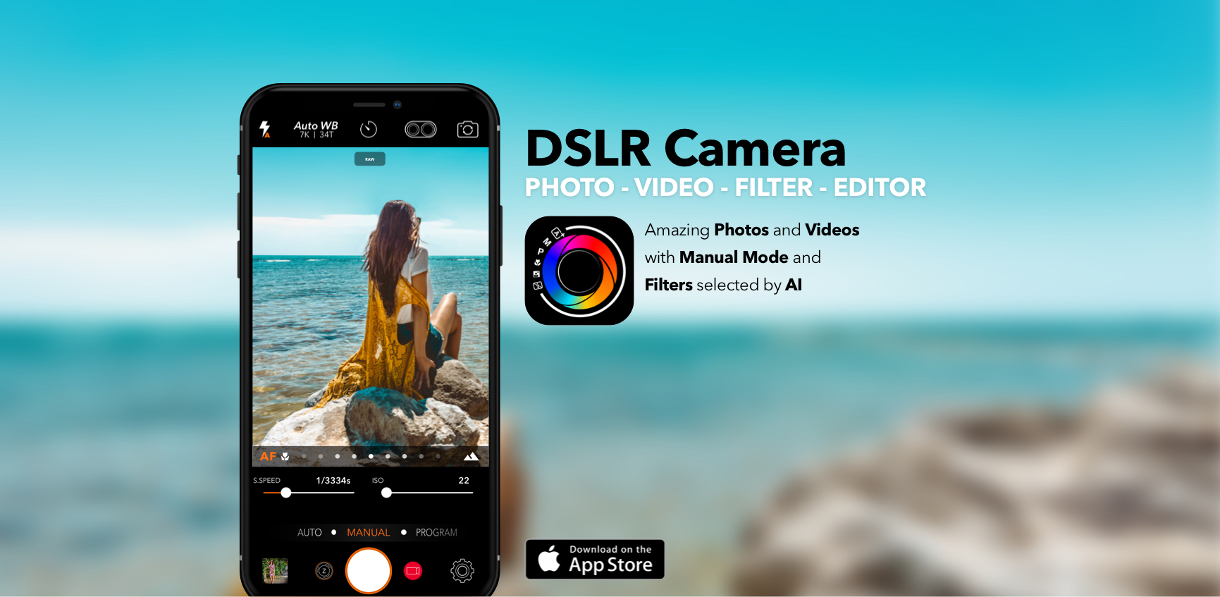 DSLR Camera for iPhone, iPad, Apple Watch and iMessage the complete app for  Photo and Video with Manual Controls, Advanced Editor and 146 Professional  ...